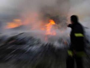 Sivas Kangal'da askeri uçak düştü