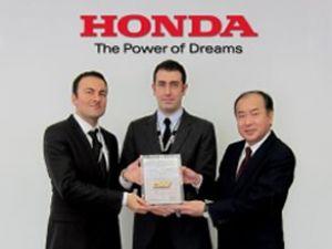 Honda Avrupa'dan mükemmellik ödülü