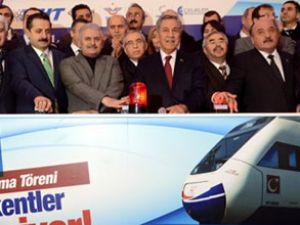 Bursa Yüksek Hızlı Treni'nin temeli atıldı