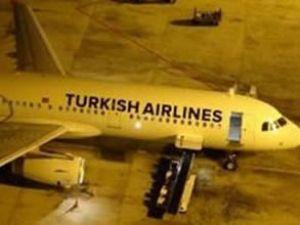 THY uçağının motor kapağı düştü