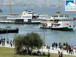 İzmir İZDENİZ'de fırtınalar koptu
