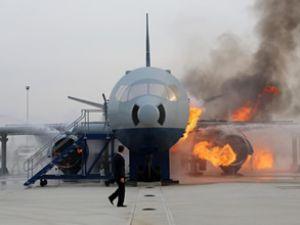 Uçak Yangın Simülatörü tesisi açıldı