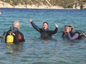Polislere su altı dalış eğitimi verildi