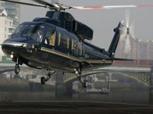 Hastaların sevki için helikopter pisti yapıldı