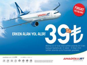 AnadoluJet'ten yeni yıl kampanyası