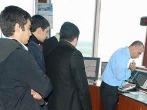 Genç pilot adayları havalimanını gezdi