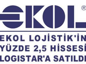 Ekol'un yüzde 2,5'i Logistar'a satıldı