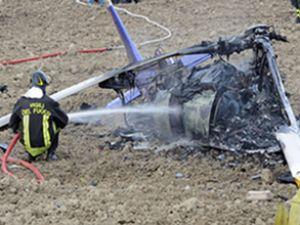 Brezilya'da helikopter çatıya düştü