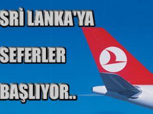 Sri lanka'ya uçuşlar 4 Şubat'ta başlıyor