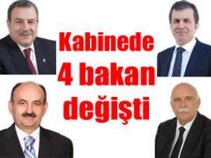 Başbakan kabinede 4 bakanı değiştirdi