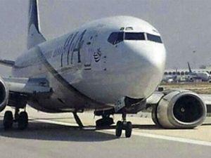 PIA'nın uçağı facianın eşiğinden döndü