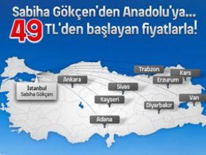 Anadolujet ile İSG'den uçuşlar yapılacak