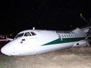 ABD'de pistten çıkan uçak faciaya yol açtı