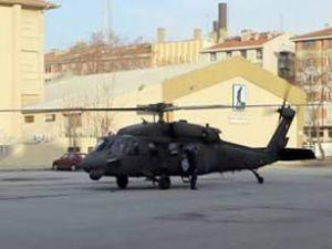 Ankara'da helikopter okul bahçesine indi