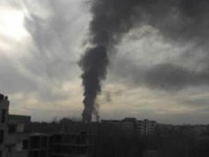 Şam Uluslararası Havalimanı yanıyor