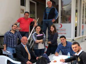 THK Üniversitesi öğrencileri kan bağışladı