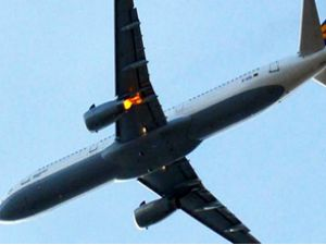 Lufthansa uçağında yangın paniği