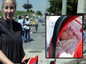 THY önünde bebekli eylem yapıldı