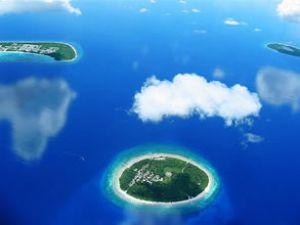 Maldiv'lerin yüzde 90'ı sudan oluşuyor