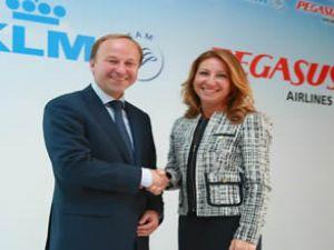 KLM ile Pegasus, anlaşma imzaladı