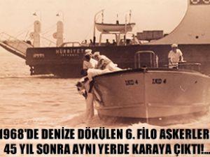 45 yıl önce denize dökülenler karaya çıktı