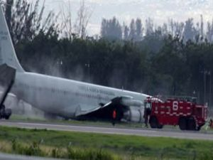 Haiti'de Brezilya uçağı pistten çıktı
