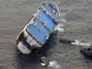 Malezya'da feribot nehirde alabora oldu