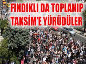 Fındıklı'da toplanıp Taksim'e yürüdüler