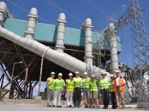 Dev santral elektrik üretmeye başladı