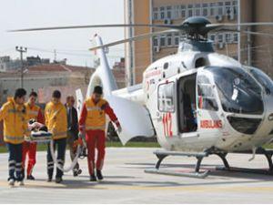 En geniş hava ambulans hizmeti Türkiye'de