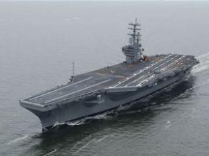 USS Nimiztz uçak gemisinde yangın çıktı