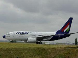 Malev Airlines uçağı kuş sürüsüne daldı