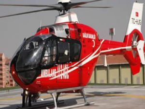 İlk Ambulans Helikopter indi
