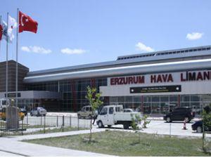 Erzurum Havalimanı'nda rekor yolcu