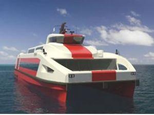 İzmir'in yeni gemilerinde ilk gövde bitti