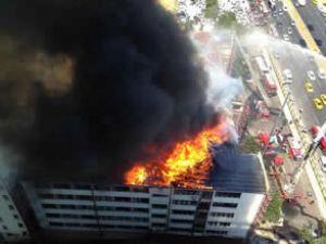 DHMİ'nin Ankara binasında yangın