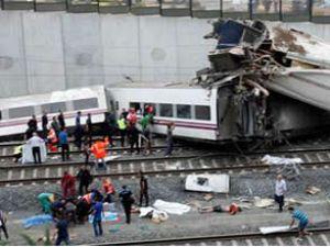İspanya'daki tren kazasında 75 kişi öldü