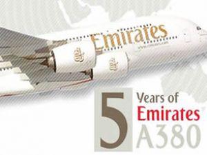 Emirates'in A380 uçakları 5. yıldönümüne giriyor