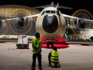 Türkiye'nin ilk A400M uçağı, motor çalıştırdı