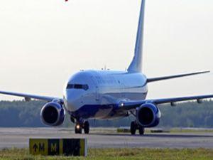 Uçak motor arıza nedeniyle geri döndü