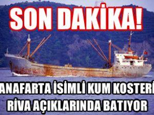 Anafarta gemisi Karadeniz'de batıyor