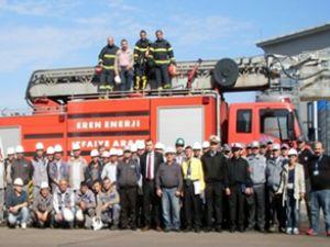 Zonguldak Eren Limanı'nda yangın tatbikatı