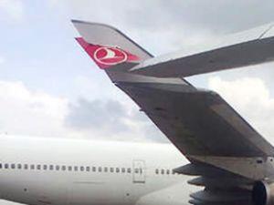 Türk Hava Yolları uçağı hasar aldı
