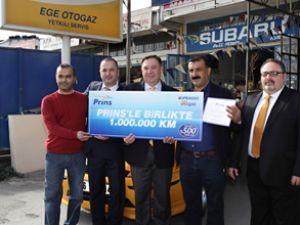 LPG'li taksi 1 milyon kilometre yol yaptı