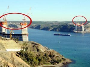 Üçüncü köprüde ayaklar 90 metreye ulaştı