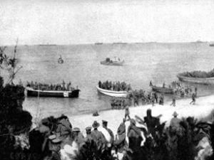 Anzaklar Gelibolu'ya denizden gelecek