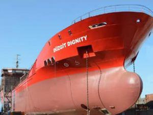 """""""Düzgit Dignity"""" törenle denize indirildi"""