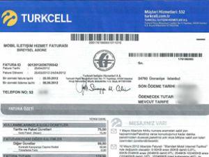 Turkcell'le güncel fatura anında 'cep'te