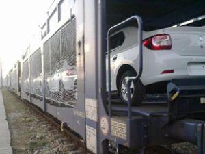 Omsan otomobilleri demiryoluyla taşıyor