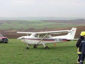 Tarkim'e ait uçak, mecburi iniş yaptı!